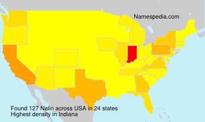Surname Nalin in USA