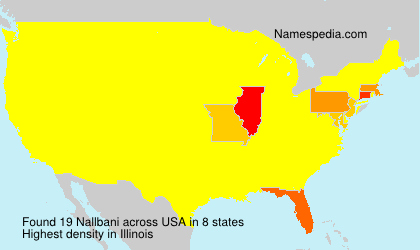 Surname Nallbani in USA