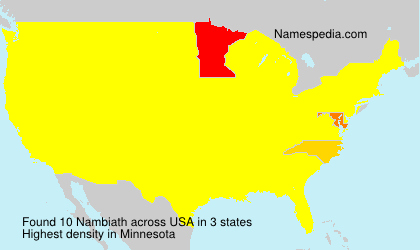 Familiennamen Nambiath - USA