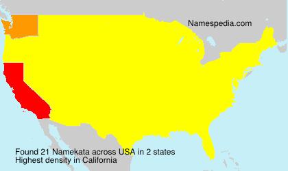 Surname Namekata in USA