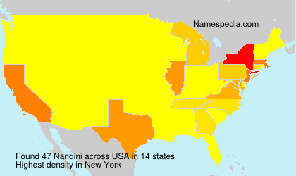 Surname Nandini in USA