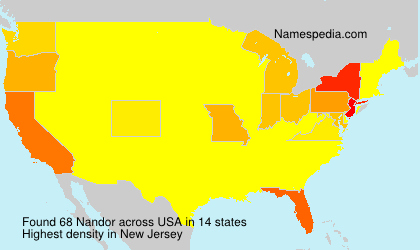 Surname Nandor in USA