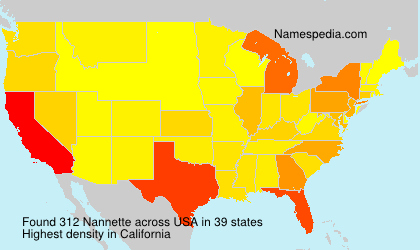 Surname Nannette in USA