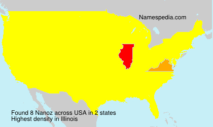 Surname Nanoz in USA