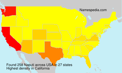 Surname Naputi in USA