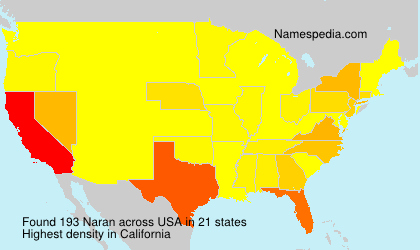 Surname Naran in USA