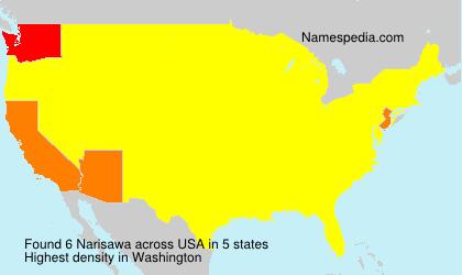 Surname Narisawa in USA