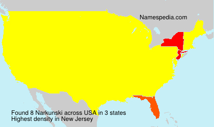 Surname Narkunski in USA