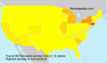 Surname Narowski in USA