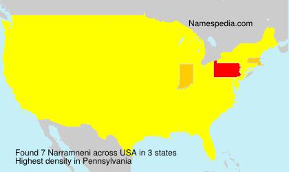 Surname Narramneni in USA