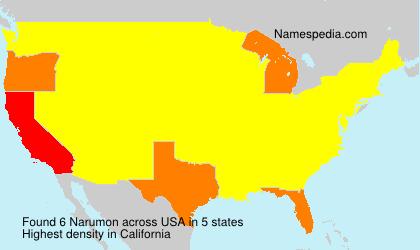 Surname Narumon in USA