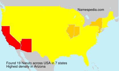 Surname Naruto in USA
