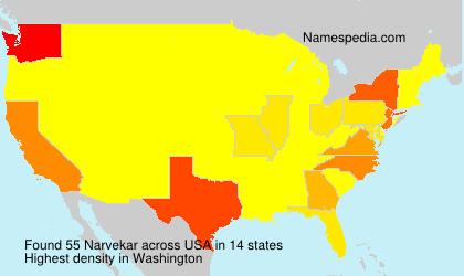 Surname Narvekar in USA