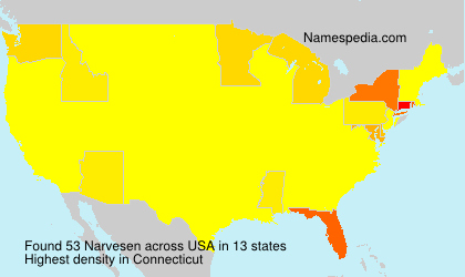 Surname Narvesen in USA