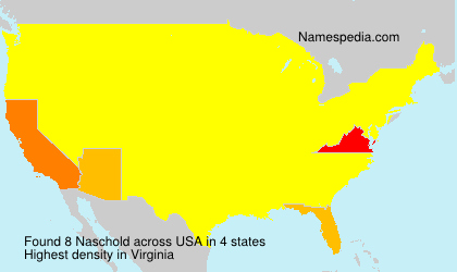 Surname Naschold in USA