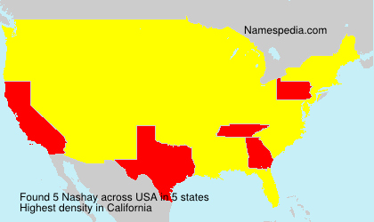 Surname Nashay in USA