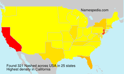 Surname Nashed in USA