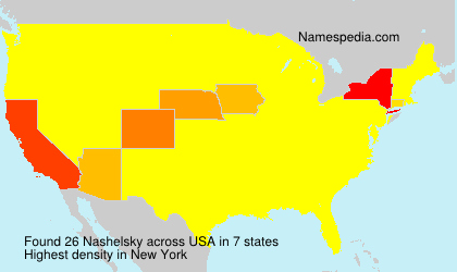 Surname Nashelsky in USA