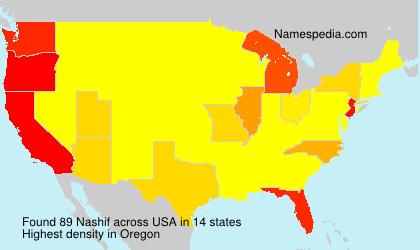 Surname Nashif in USA