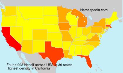 Surname Nassif in USA