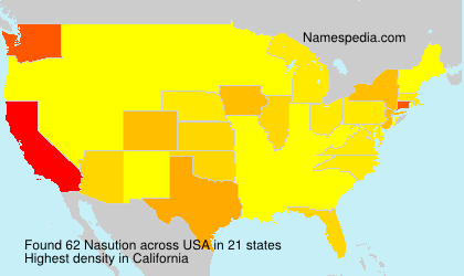 Surname Nasution in USA