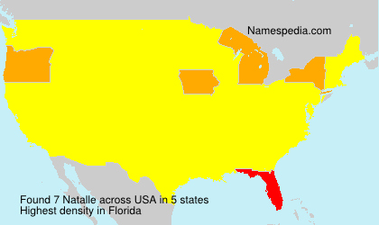 Surname Natalle in USA