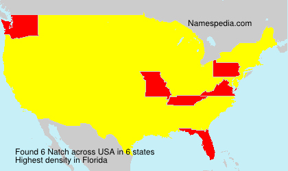 Surname Natch in USA