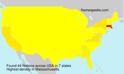 Surname Natsios in USA