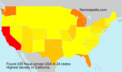 Surname Naud in USA