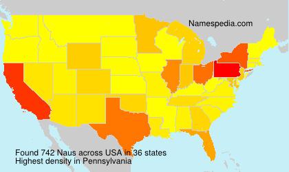 Surname Naus in USA