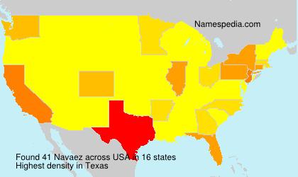 Surname Navaez in USA