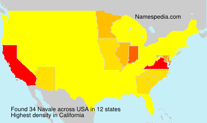 Surname Navale in USA