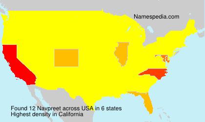Surname Navpreet in USA