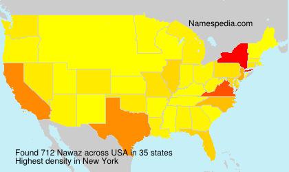 Surname Nawaz in USA