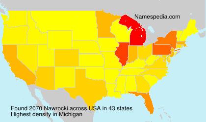 Surname Nawrocki in USA