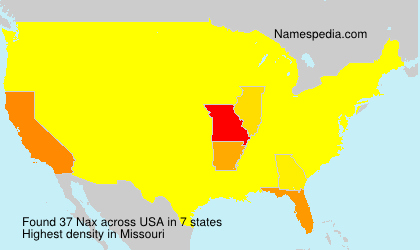 Surname Nax in USA