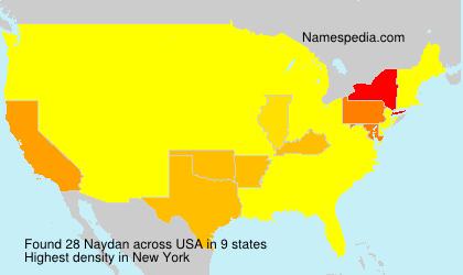 Familiennamen Naydan - USA