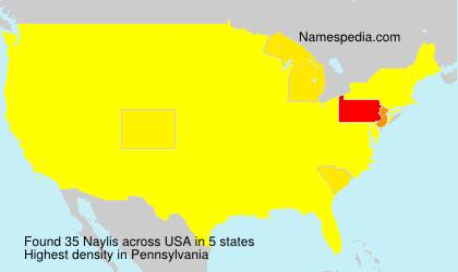 Surname Naylis in USA