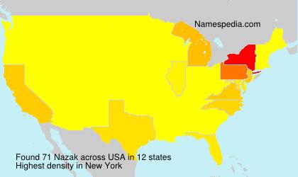 Familiennamen Nazak - USA
