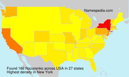 Surname Nazarenko in USA