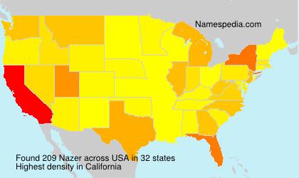 Surname Nazer in USA