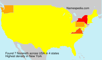 Surname Nazereth in USA