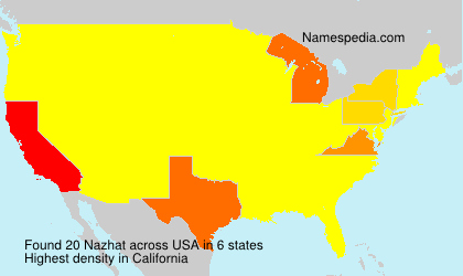 Surname Nazhat in USA