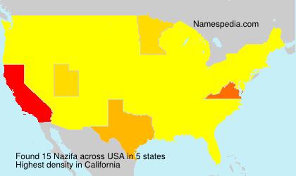 Surname Nazifa in USA