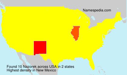 Familiennamen Nazorek - USA