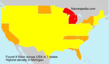 Surname Nazri in USA
