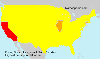 Surname Nazuka in USA