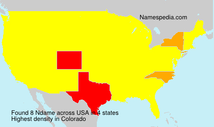 Surname Ndame in USA