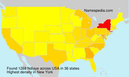Familiennamen Ndiaye - USA