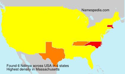 Surname Ndinya in USA